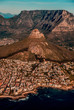 canvas print picture - Table Mountain Aerial View - Cape Town - South Africa
