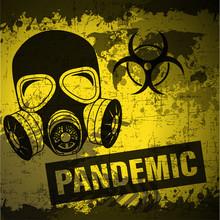 Grunge Style Pandemic Poster V...