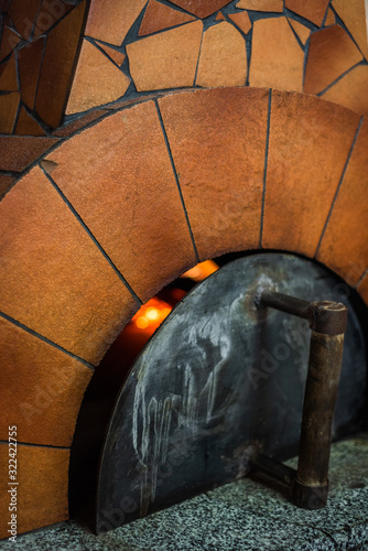 Fototapety, obrazy: Original neapolitan pizza margherita in a traditional wood oven in restaurant