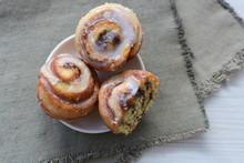 Cinnamon Rolls Of Cinnamon, Sweet And Freshly Baked