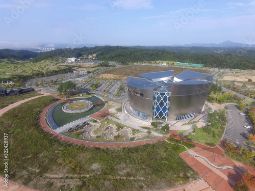 Fotografie, Tablou Aerial View of Confucian Land, Andong, Gyeongbuk, South Korea, Asia