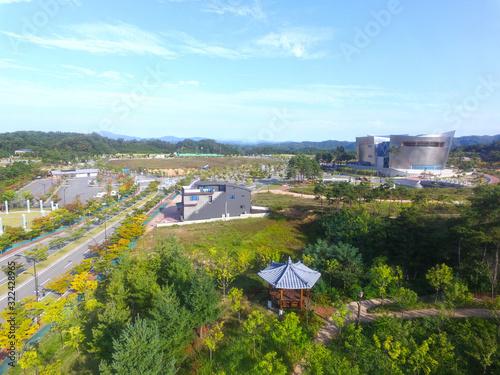 Valokuva Aerial View of Confucian Land, Andong, Gyeongbuk, South Korea, Asia