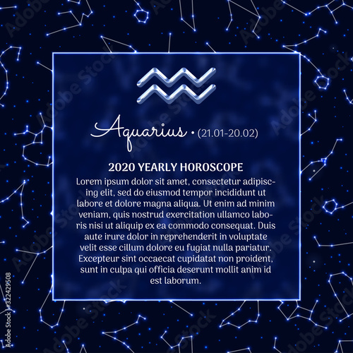 Aquarius astrology horoscope prediction banner Canvas Print