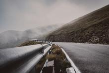 Carretera De Montaña Con Curv...