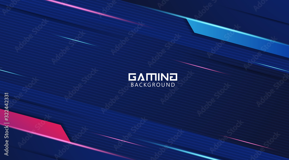 Fototapeta Futuristic Abstract Gaming Wallpaper Background Vector