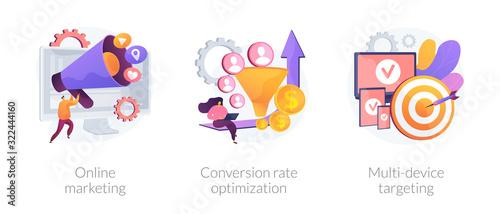 Business development, digital advertisement, internet communication Fototapet