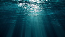 Underwater View With Ocean Wav...
