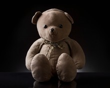 Cute Brown Childhood Teddy Bea...