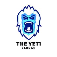 Yeti Head Face Character Logo ...