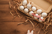 Easter, Tied Egg With Red Ribb...