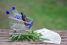 Shopping Trolley With Cannabis...