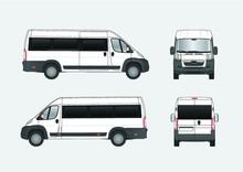 Vector Illustration Of Passenger Bus