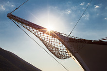 A Bowsprit Of A Moored Yacht I...