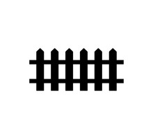 Fence Icon Logo Vector Illustration
