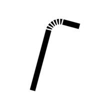 Drinking Plastic Straw Icon Is...