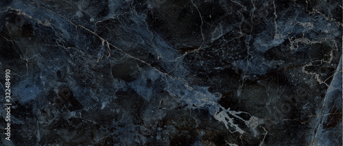 Fototapeta dark color marble texture, black marble background obraz