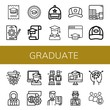Set of graduate icons