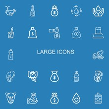 Editable 22 Large Icons For We...