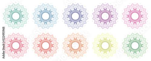 Photo Mandala patterns in many colors