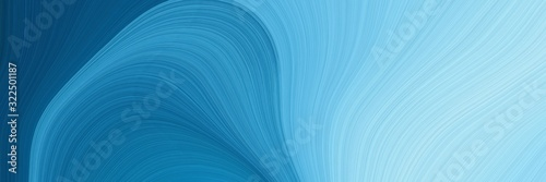 Obraz na plátne artistic horizontal header with steel blue, sky blue and light blue colors
