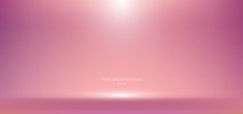 3D Empty Pink Studio Room Background With Spotlight On Stage Background.