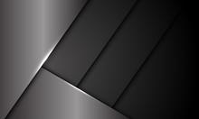 Abstract Grey Metallic Dark Sh...