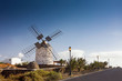 Windmill, Molinos, Lajares, Fuerteventura, Canary Islands, Spain, Europe