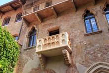 Verona, Italy. Juliet's Balcony. Juliet's House (Casa Di Giulietta)