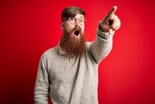 Handsome Irish Redhead Man Wit...