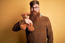 Redhead Irish Man With Beard H...