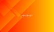 Leinwanddruck Bild - dynamic orange background with abstract square shape, minimal geometric background