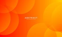 Dynamic Orange Background With Abstract Circle Shape, Minimal Geometric Background
