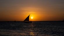 Sunset On A Beach In Zanzibar ...