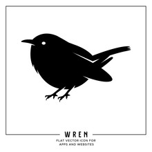Wren Flat Vector Icon For Apps...