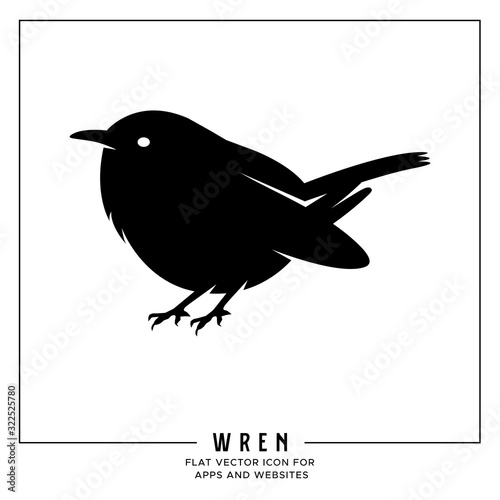 Wren flat vector icon for apps and websites Wallpaper Mural