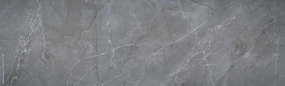 Fototapeta natural gray stone background texture with cracks and veins structure