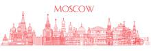 Moscow Skyline Line Art 3