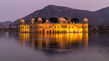 Jal Mahal Palace At Night, Jal...