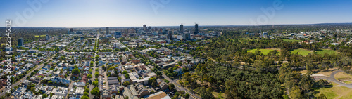 Aerial panoramic view of the city of Adelaide, South Australia Canvas Print