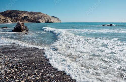 Aphrodite bay in the Mediterranean Sea, Cyprus. Canvas Print