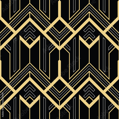 Art deco abstract geometric pattern vector