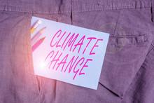 Handwriting Text Climate Chang...