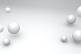 Abstract 3d render of spheres, modern background design,abstract background with white balloons.