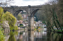 Knaresborough With River Nidd And Railway Viaduct, Yorkshire, United Kingdom