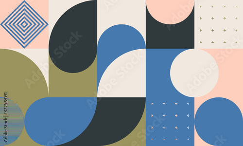 Fotografia Mid-Century Abstract Vector Pattern Design