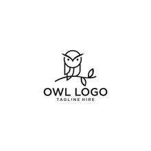 Owl Logo Vector Icon Illustrat...