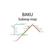 Baku Metro Map Names Of Metro ...