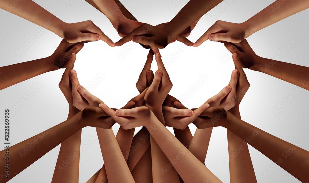 Fototapeta Diversity love