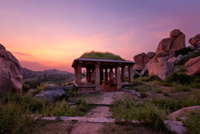 Ancient Ruins Of Hampi On Suns...
