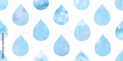 Obraz Watercolor water drops background. Seamless pattern.Vector. 水彩水滴パターン	 - fototapety do salonu